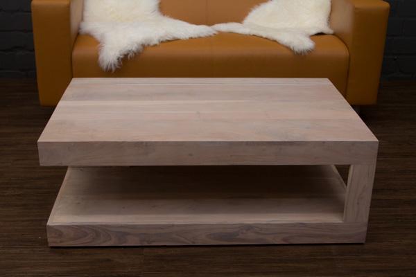 couchtisch massivholz wei beige gek lkt 110x70x40 wohnzimmertisch sheesham bali ebay. Black Bedroom Furniture Sets. Home Design Ideas