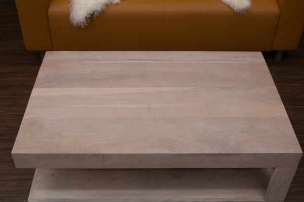 Couchtisch massivholz wei beige gek lkt 110x70x40 for Couchtisch extravagant