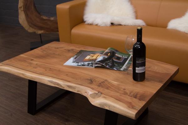 Couchtisch massivholz baumstamm planken suar 115x64x40 for Baumstamm wohnzimmertisch