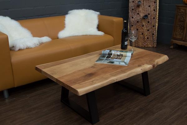 Couchtisch massivholz baumstamm planken suar 115x66x40 for Baumstamm wohnzimmertisch