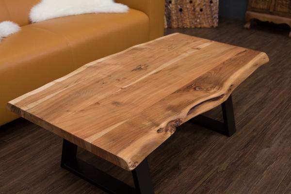 Couchtisch massivholz baumstamm planken suar 115x66x40 for Wohnzimmertisch natur