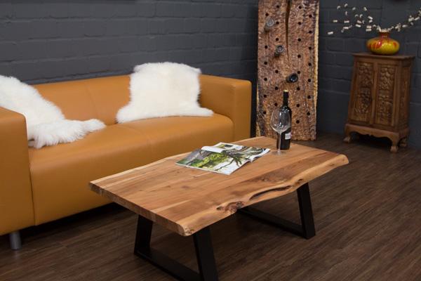 Couchtisch massivholz baumstamm planken suar 115x66x40 for Couchtisch unikat