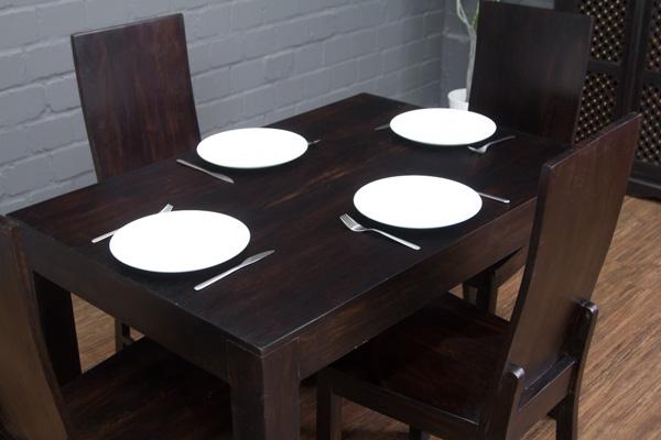 Esstisch Küchentisch Sheesham Holz 120x80x77 Walnuss Massiv Tisch ...