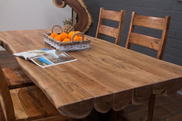 esstisch natur baumst mme massivholz 200x95x77 akazie. Black Bedroom Furniture Sets. Home Design Ideas