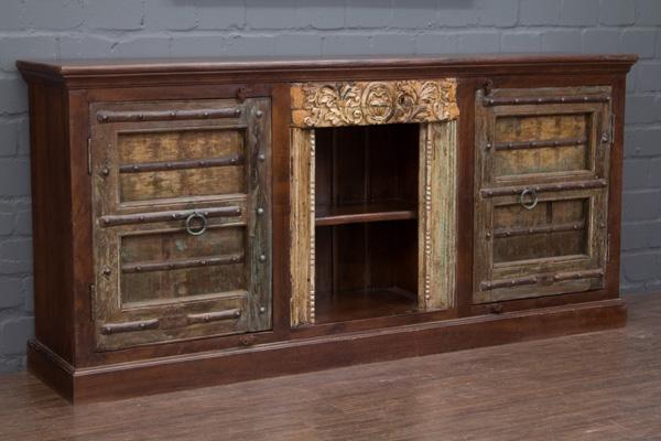 indisches kolonialstil highboard aus palisander massivholz. Black Bedroom Furniture Sets. Home Design Ideas