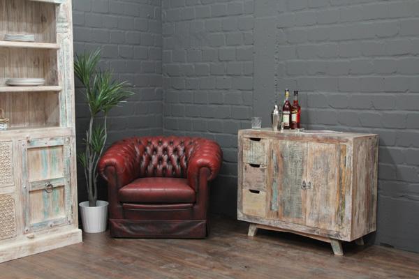 wei gek lkte massivholz kommode im modernen vintage stil. Black Bedroom Furniture Sets. Home Design Ideas