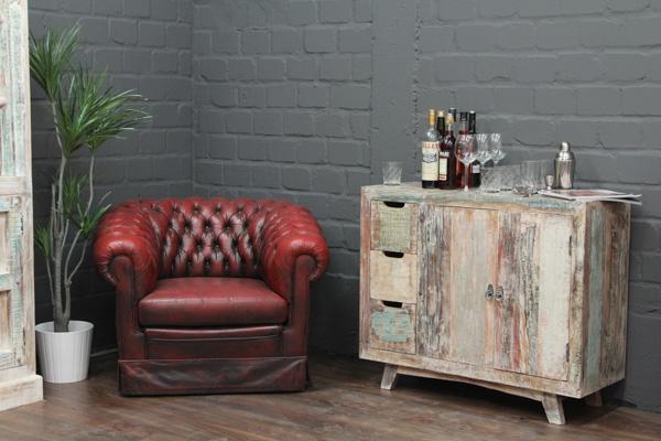 wei gek lkte massivholz kommode im landhaus vintage stil. Black Bedroom Furniture Sets. Home Design Ideas