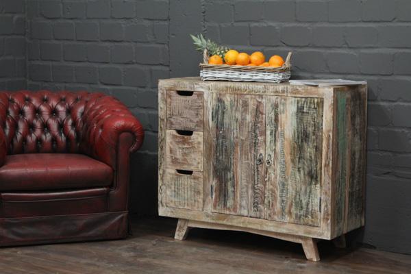 gek lkte massivholz kommode im vintage landhaus stil. Black Bedroom Furniture Sets. Home Design Ideas