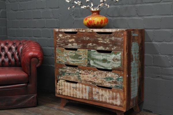 kommode massivholz vintage 91x91x41 schubladenkommode sideboard antik landhaus ebay. Black Bedroom Furniture Sets. Home Design Ideas