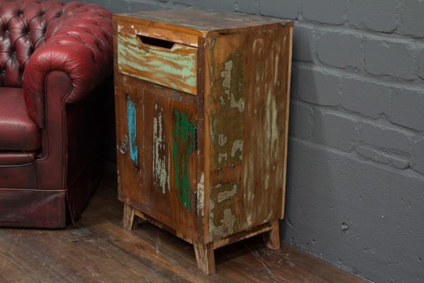 Kleine Massivholz Kommode Im Vintage Landhaus Stil Nr 16571