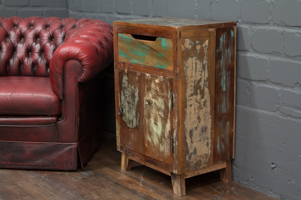 Braune Massivholz Kommode Im Vintage Landhaus Stil Nr 16572
