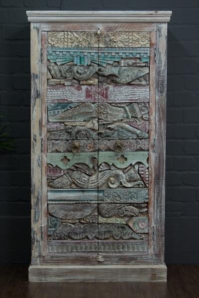Indischer Luxus Massivholz Schrank mit Schnitzereien. Nr.16844