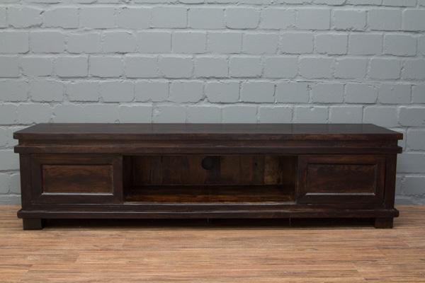 sideboard tv hifi 180x45x45 walnuss massivholz schrank regal rack fernsehschrank ebay. Black Bedroom Furniture Sets. Home Design Ideas