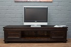 Sheesham Massivholz Designer TV Sideboard - Walnuss Matt