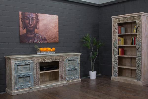 edles massivholz sideboard aus indien im kolonialen. Black Bedroom Furniture Sets. Home Design Ideas