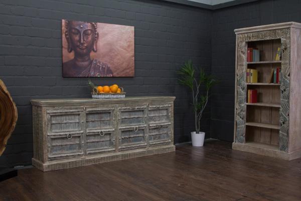 sideboard massivholz landhaus 216x88x46 anrichte. Black Bedroom Furniture Sets. Home Design Ideas