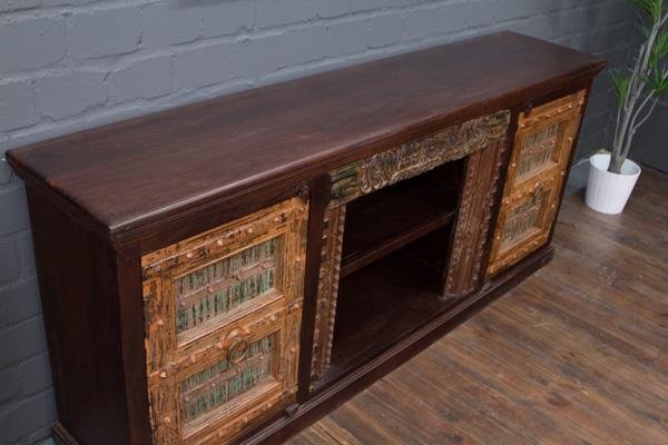 tv sideboard massivholz highboard 210x90x45 kolonial. Black Bedroom Furniture Sets. Home Design Ideas