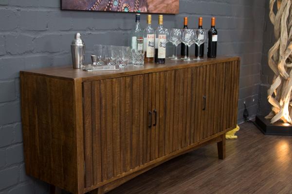 sideboard massivholz anrichte buffet 178x87x46 landhausstil braun gro modern ebay. Black Bedroom Furniture Sets. Home Design Ideas
