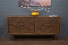 Massivholz Sideboard mit Intarsien aus edlem Palisander. Nr.17215