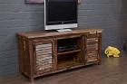 Designer TV Sideboard aus Palisander Massivholz im Vintage Stil.
