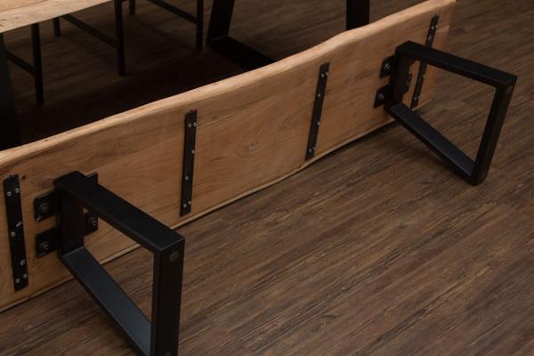 sitzbank massivholz natur baumstamm 178x45x44 bank. Black Bedroom Furniture Sets. Home Design Ideas