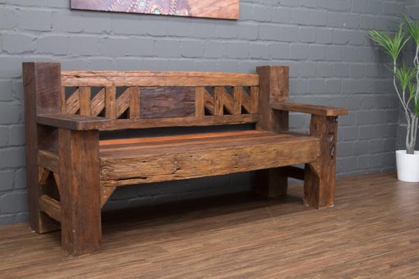 sitzbank massivholz teak antik alt bootsholz driftwood 182cm holzbank thailand ebay. Black Bedroom Furniture Sets. Home Design Ideas