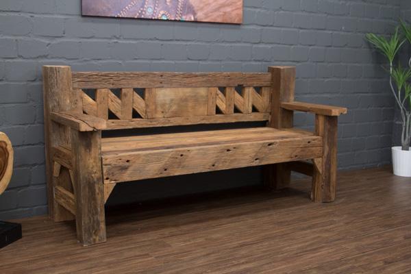 sitzbank teak massivholz antikstil bootsholz treibholz. Black Bedroom Furniture Sets. Home Design Ideas