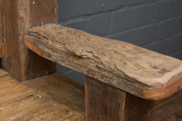 sitzbank massivholz teak antikstil alt bootsholz treibholz. Black Bedroom Furniture Sets. Home Design Ideas