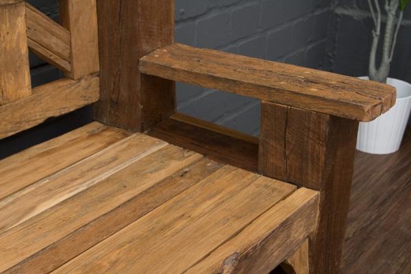 sitzbank massivholz teak antik 203cm alt bootsholz. Black Bedroom Furniture Sets. Home Design Ideas