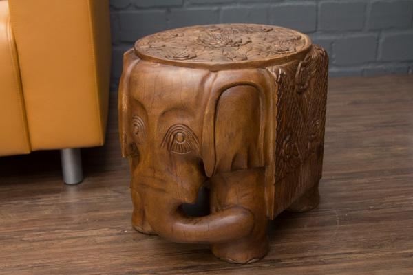 Elefant massivholz beistelltisch schnitzereien for Beistelltisch elefant