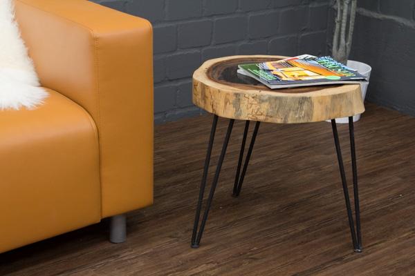 beistelltisch suar massivholz baumscheibe baumstamm 49x43. Black Bedroom Furniture Sets. Home Design Ideas