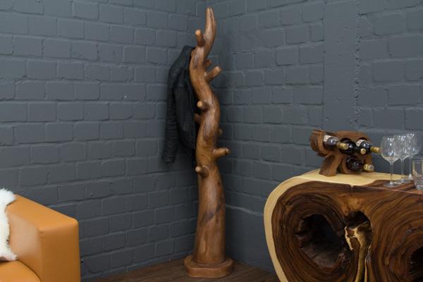kleiderst nder massivholz baumstamm baum hutst nder garderobe garderobenst nder ebay. Black Bedroom Furniture Sets. Home Design Ideas