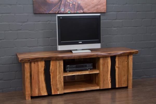 tv sideboard massivholz suar baumkante 180x60x57 hifi. Black Bedroom Furniture Sets. Home Design Ideas