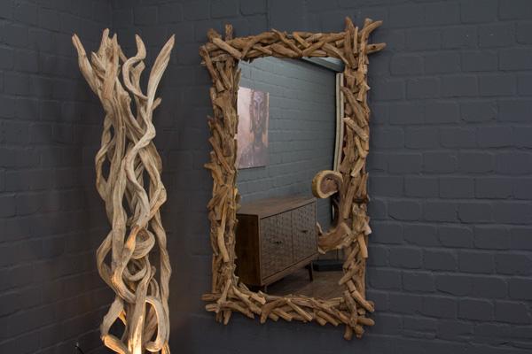 wandspiegel gro holz teak ste 180x110cm spiegel rahmen designer thailand neu ebay. Black Bedroom Furniture Sets. Home Design Ideas
