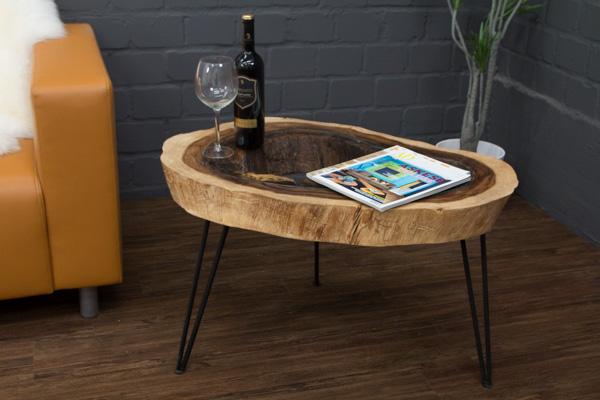 couchtisch baumscheibe baumstamm suar 83x51 massivholz. Black Bedroom Furniture Sets. Home Design Ideas