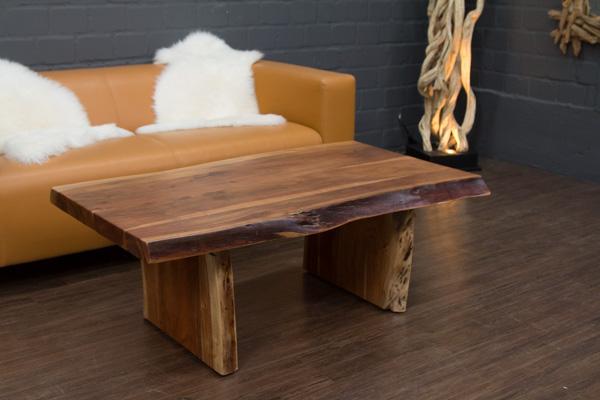 Couchtisch massivholz baumstamm suar 120x70x46 for Baumstamm wohnzimmertisch