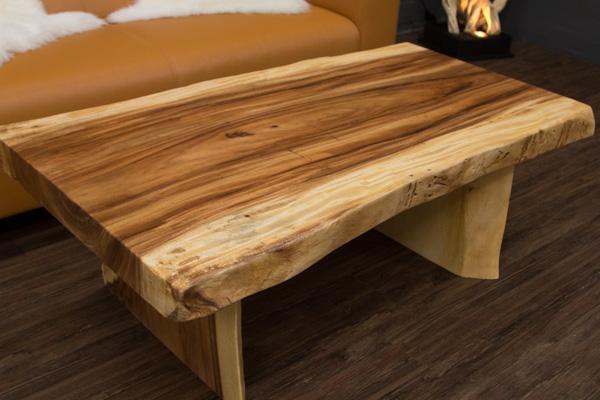Couchtisch baumstamm massivholz suar 120x70x45 for Wohnzimmertisch baumscheibe