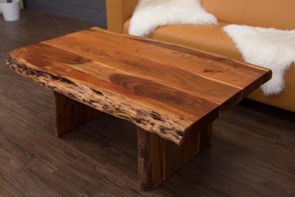 Baumkanten couchtisch 120x75x46 wohnzimmertisch massivholz for Baumstamm wohnzimmertisch