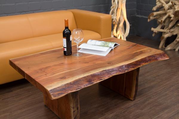Couchtisch baumkanten massivholz 120x79x47 suar baumstamm for Baumstamm wohnzimmertisch