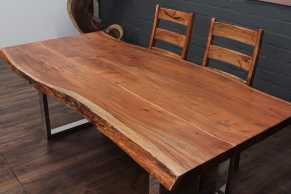 esstisch massivholz baumstamm planken 214x104x76 tisch. Black Bedroom Furniture Sets. Home Design Ideas
