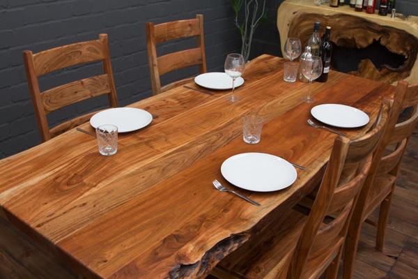 esstisch massivholz baumstamm planken 212x101x76 tisch. Black Bedroom Furniture Sets. Home Design Ideas