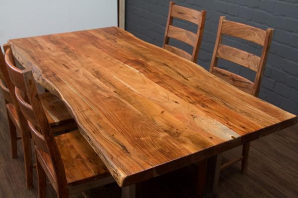 esstisch massivholz baumstamm planken 214x103x76 tisch. Black Bedroom Furniture Sets. Home Design Ideas