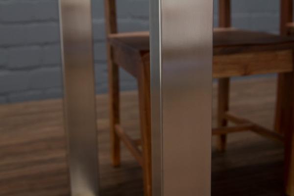 Esstisch Baumscheibe ~ Esstisch Massivholz Baumstamm Planken 214x109x76 Tisch Suar Stahl Beine Matt
