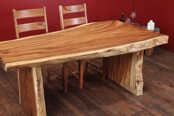 designer massivholz esstisch aus einem suar baumstamm nr. Black Bedroom Furniture Sets. Home Design Ideas