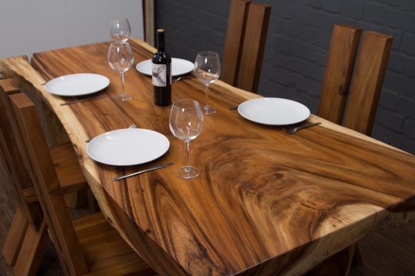 esstisch baumstamm baumscheibe 200x97x78 suar massivholz. Black Bedroom Furniture Sets. Home Design Ideas