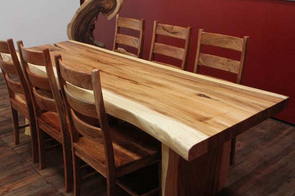 designer baumstamm esstisch aus suar massivholz. Black Bedroom Furniture Sets. Home Design Ideas