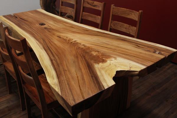 holztisch baumstamm good tisch aus baumstamm selber bauen. Black Bedroom Furniture Sets. Home Design Ideas
