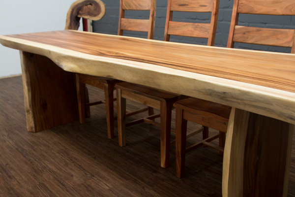 esstisch baumstamm suar massivholz 253x101x77 natur tisch. Black Bedroom Furniture Sets. Home Design Ideas