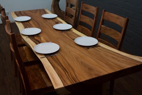 esstisch baumstamm suar massivholz 253x101x77 natur tisch baumscheibe gro neu ebay. Black Bedroom Furniture Sets. Home Design Ideas
