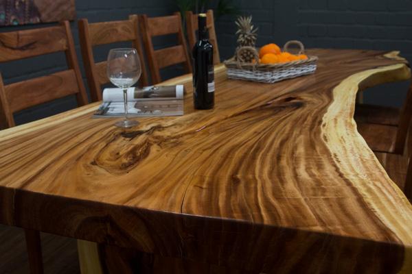 3 meter baumstamm esstisch aus einer suar massivholz. Black Bedroom Furniture Sets. Home Design Ideas